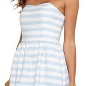Lilly Pulitzer Blue and White Striped Peyton Dress